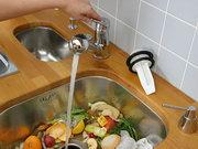 Ukázka použití drtiče kuchyňského odpadu č.1